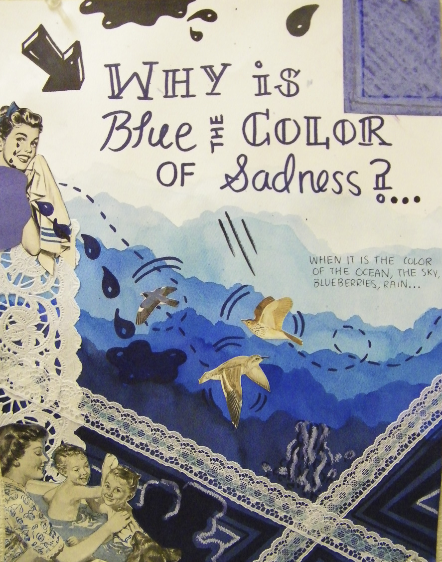 Students are full of questions. We looked at the work of Lynda Barry and the beauty of hypothetical questions. Each student came up with a list of questions that love to think about and focused on composition to illustrate it.
