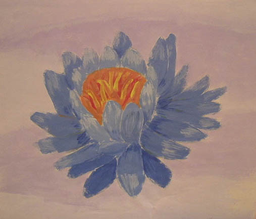 While spring brought out blooms all over the neighborhood, students brought the color inside inspired by Georgia O' Keefe to paint large scale images of flowers.