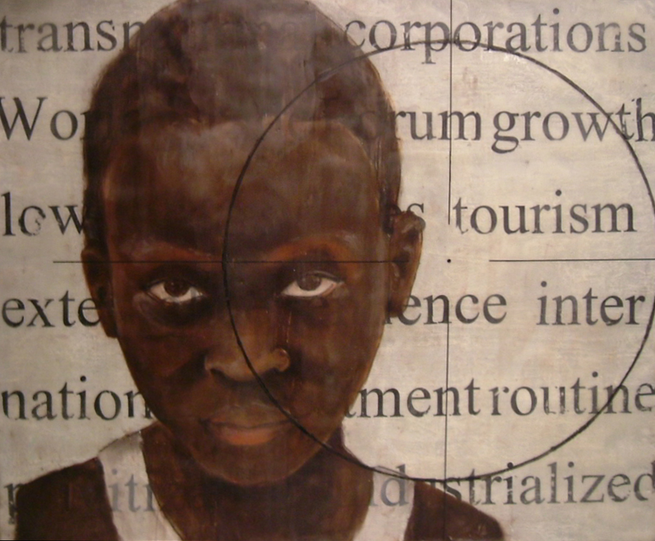 "Mali I   Encaustic on Wood Panel, 20"" x 24""  2007"