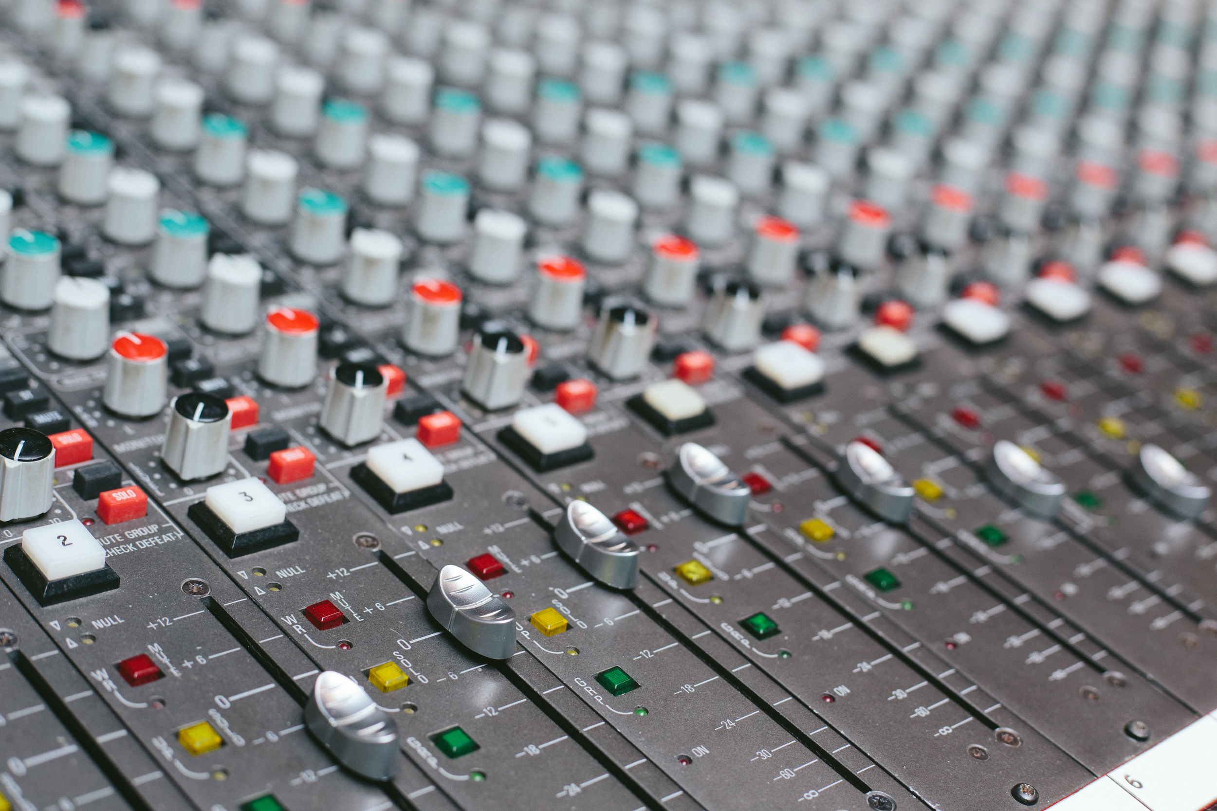 Our Amek  Angela  Recording Console sounds fantastic and offers incredible versatility including mixing outside the box.