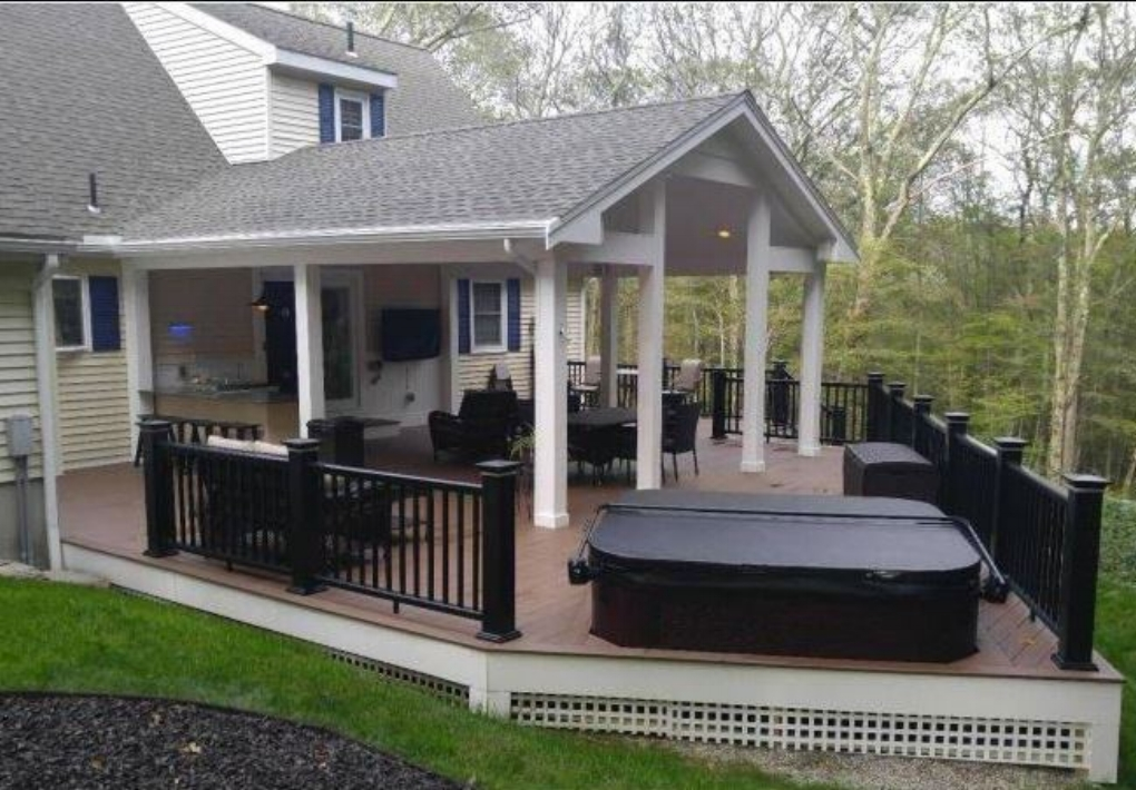 """Beautiful"" deck and deck design in Douglas MA."