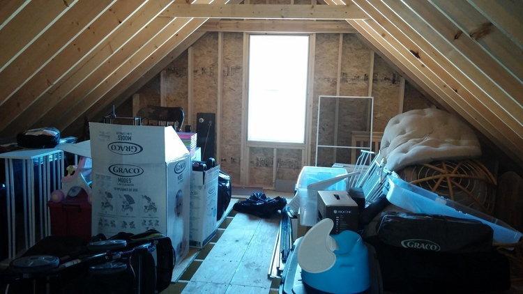 attic before