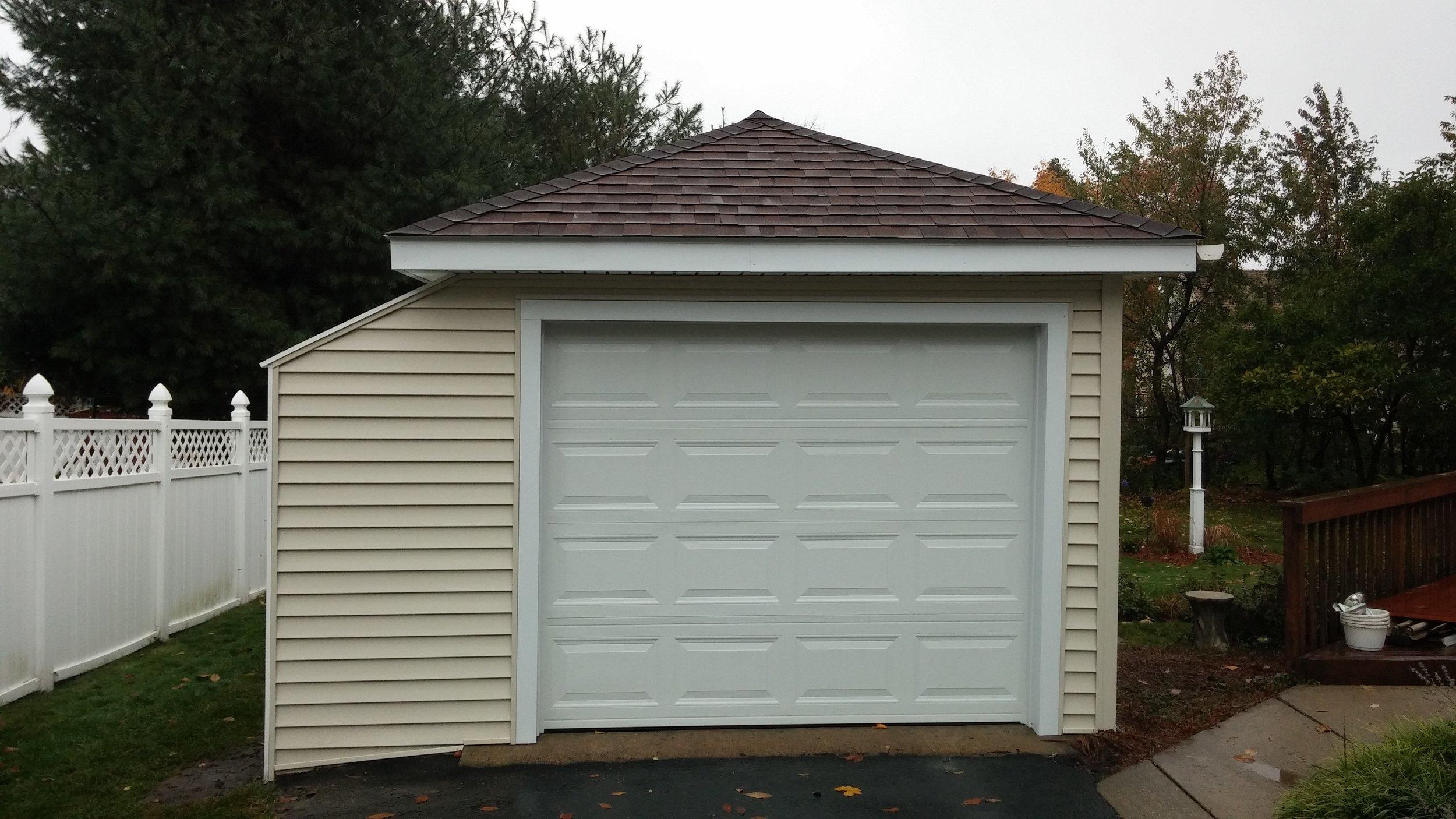 Fire Damage Garage Rebuild - Worcester MA