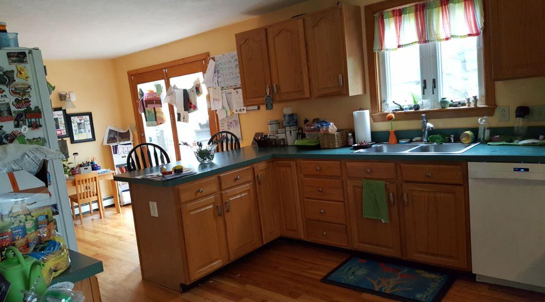 Kitchen before desk view