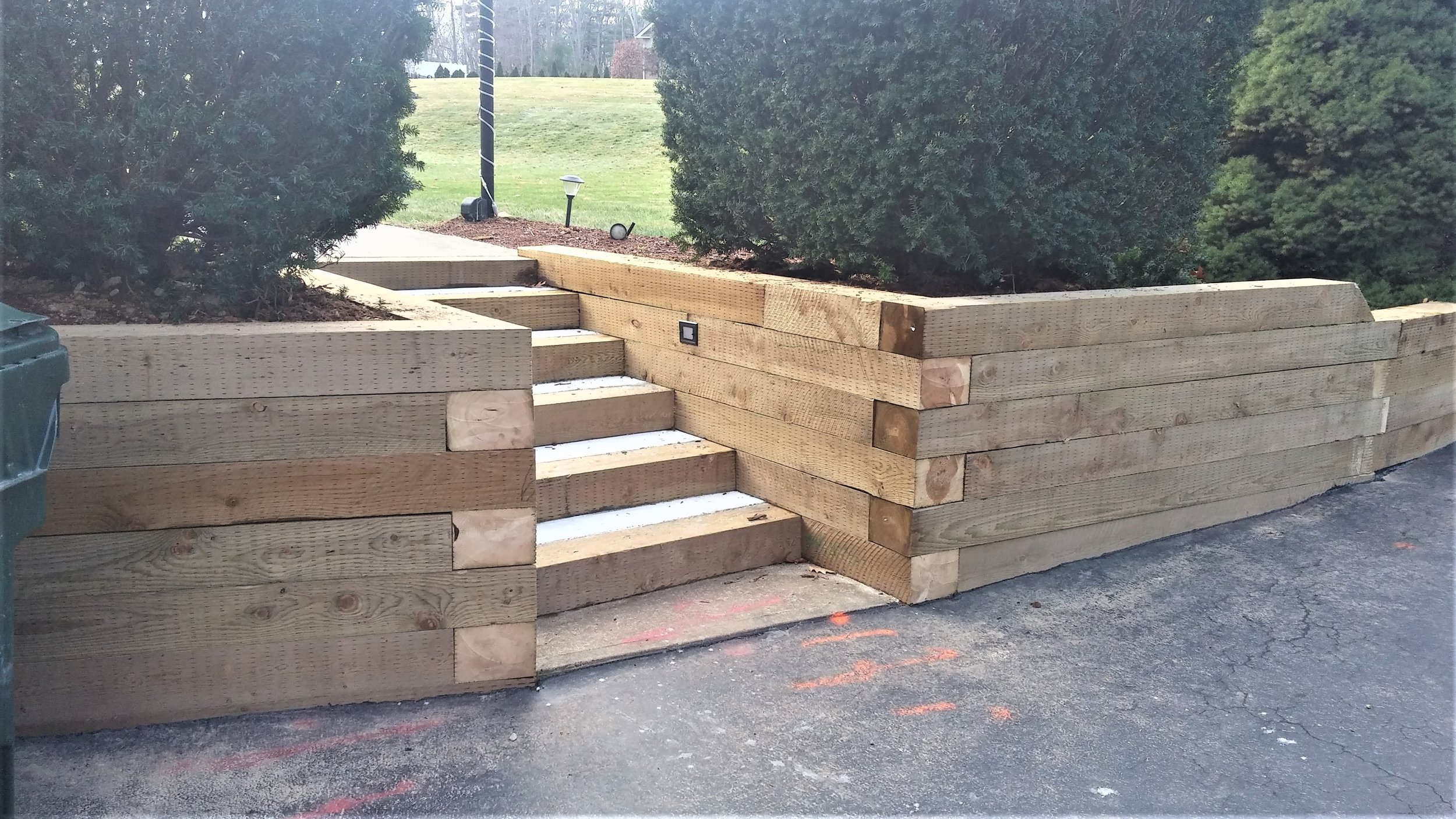 Retaining Wall and Deck - Charlton MA