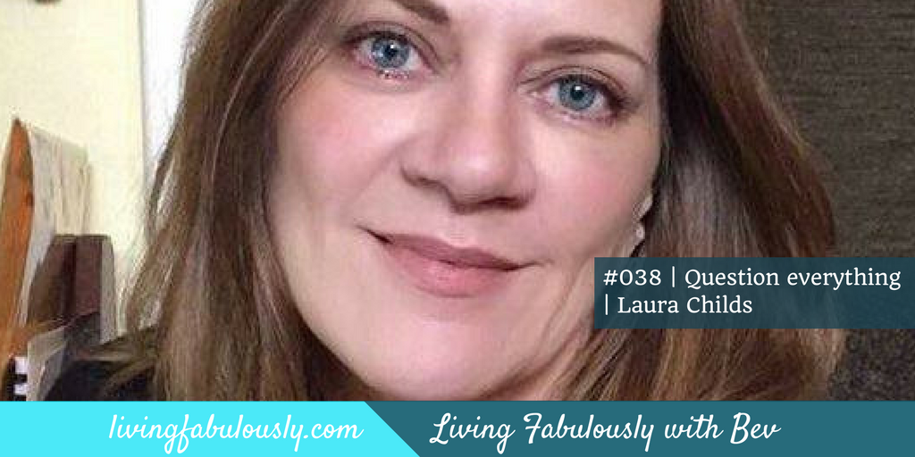 Laura Childs talking healthy weight on Living Fabulously with Bev