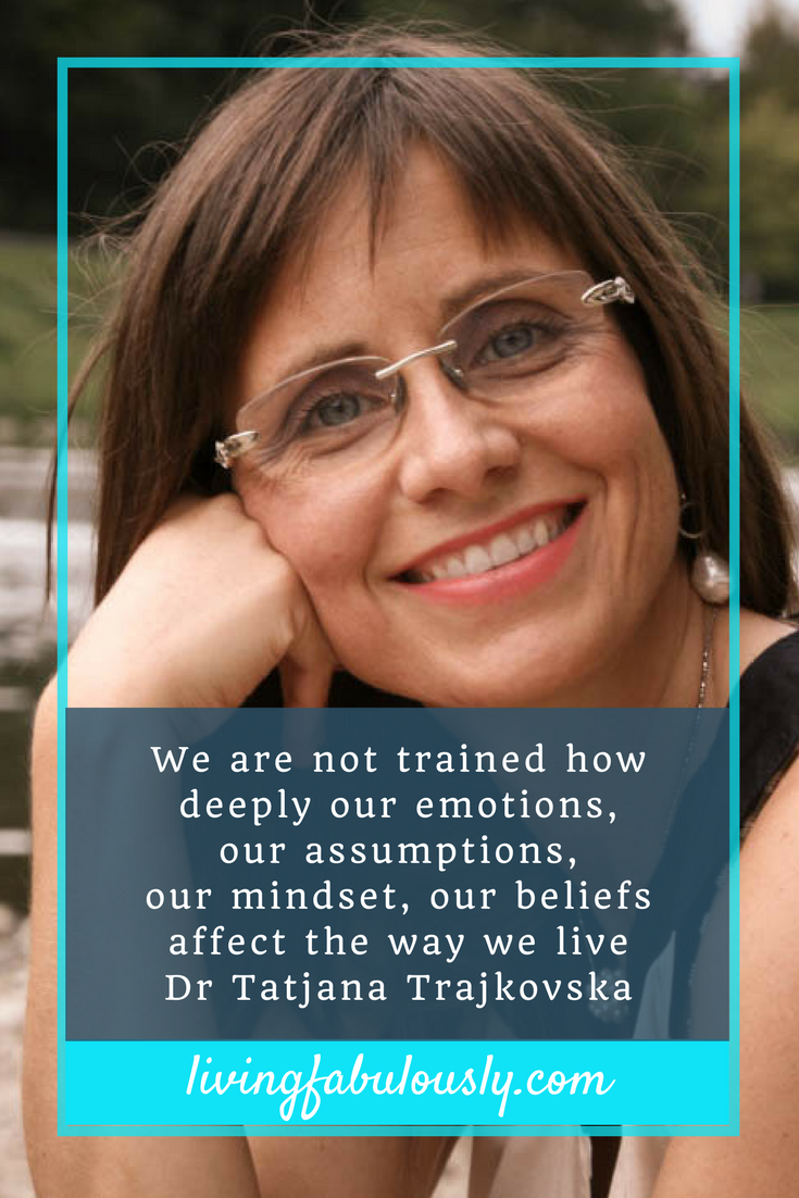 Dr Tatjana Trajkovska on LIving Fabulously with Bev podcast Q1