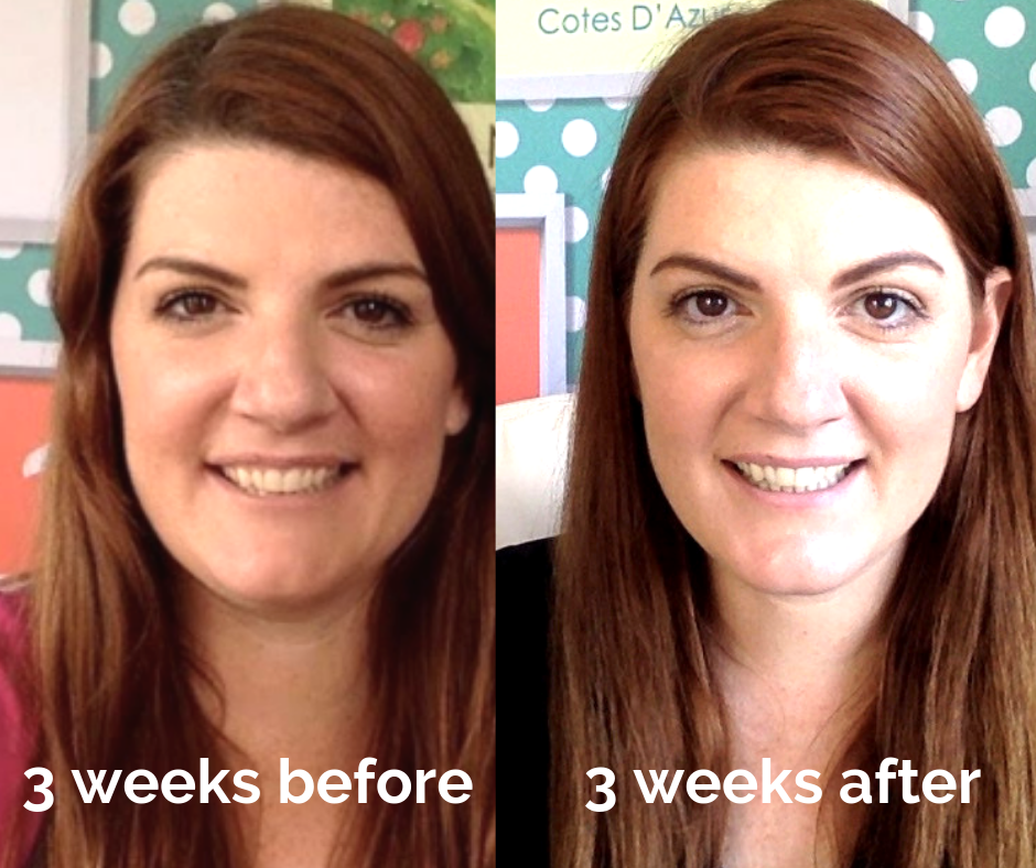 Tash Corbin 3 weeks before and 3 weeks after her personalised retreat with Bev Roberts of Living Fabulously.png