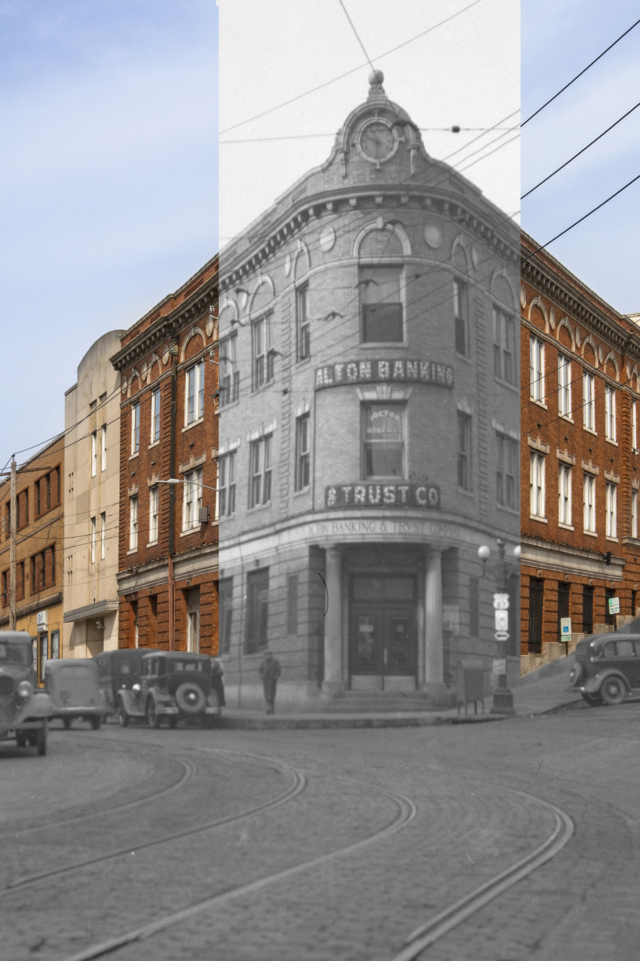 Wedge at East Broadway & West 3rd in 1936 and 2019