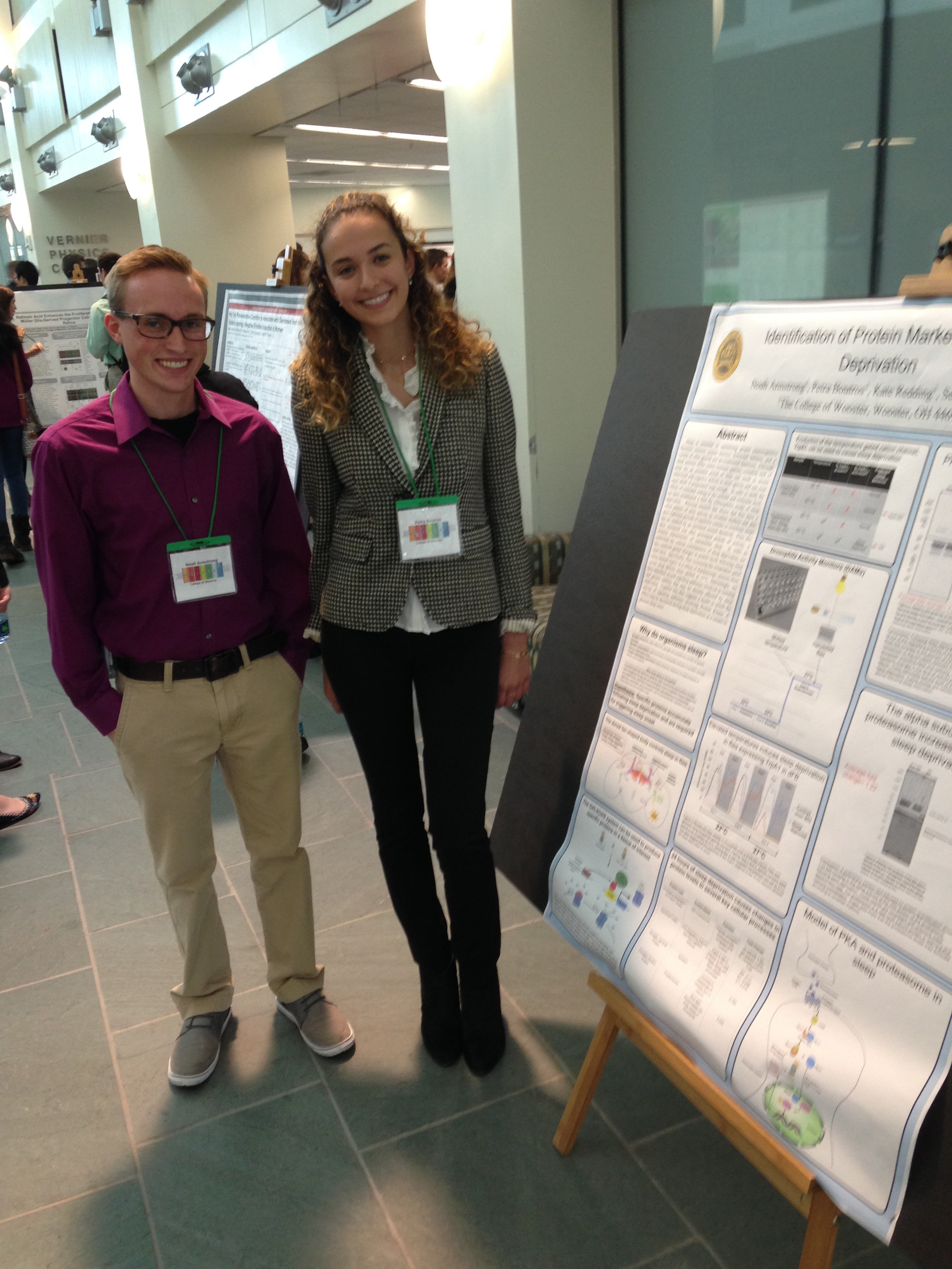 Noah and Petra presenting their joint poster at mGluRs