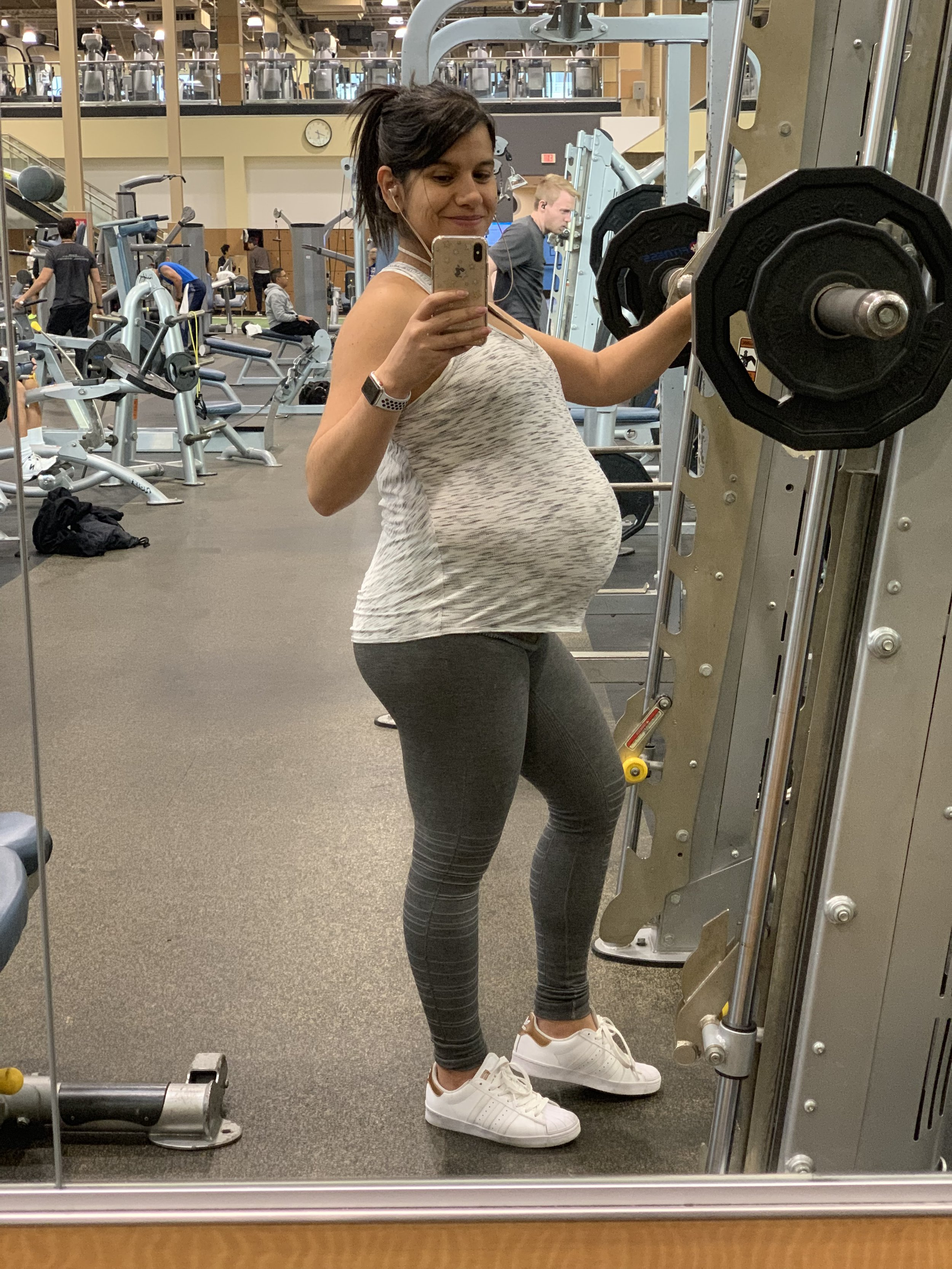 My last workout before labor, week 39 day 4.
