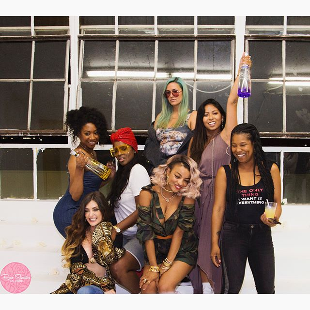 For those of you who don't know, I've spent the last few months partnering up with @emilynnrose to build this amazing Studio!! ✨💖 Thank you again to all of those who joined us at our Grand Opening. Many more parties to come!! 🎉✨ • • • #rosestudiosla #royalelitevodka #artistryworldwide #rentalspace #studiospace #film #photo #musicvideo #photoservices #womeninbusiness #laphotographer #palmtrees #flowerwall #swing #localtalent #musicartist #modeling #planyourpartyhere