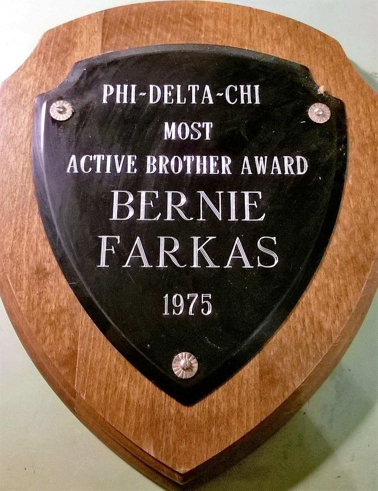 Phi Delta Chi Recognition