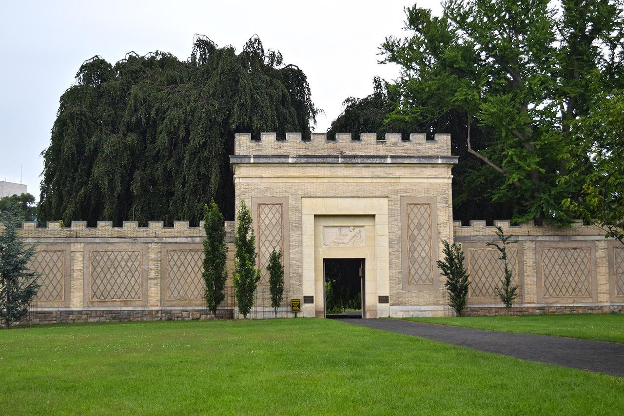 walled persian garden