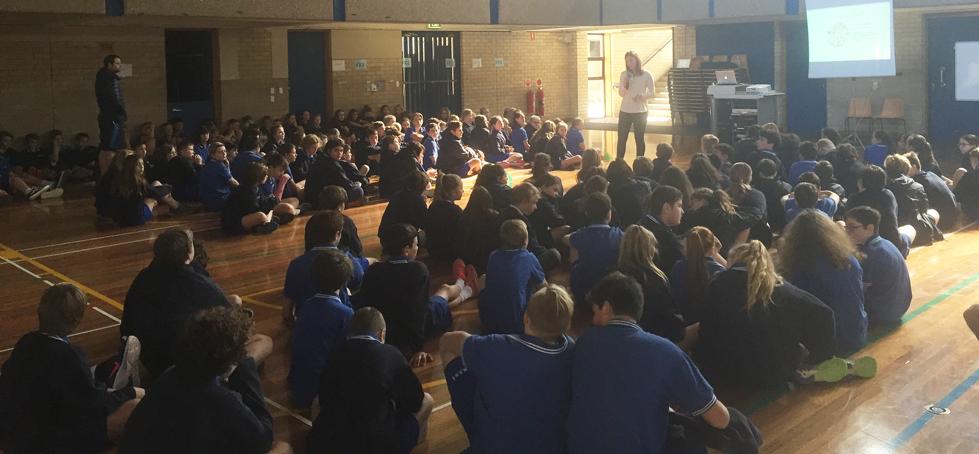 Presenting at Narrabeen Sports High School, North Narrabeen