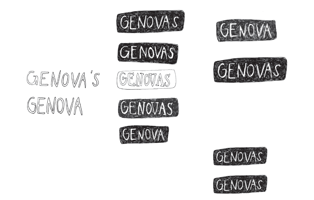 Work in progress for the Genova's logo