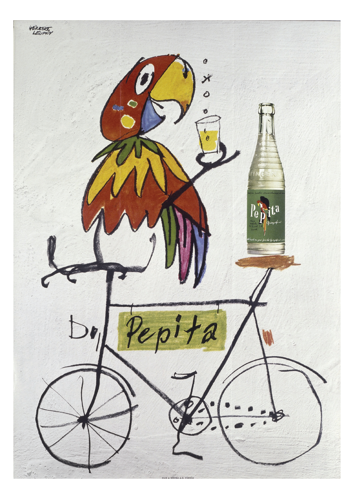 Herbert Leupin Pepita Parrot Bike Poster