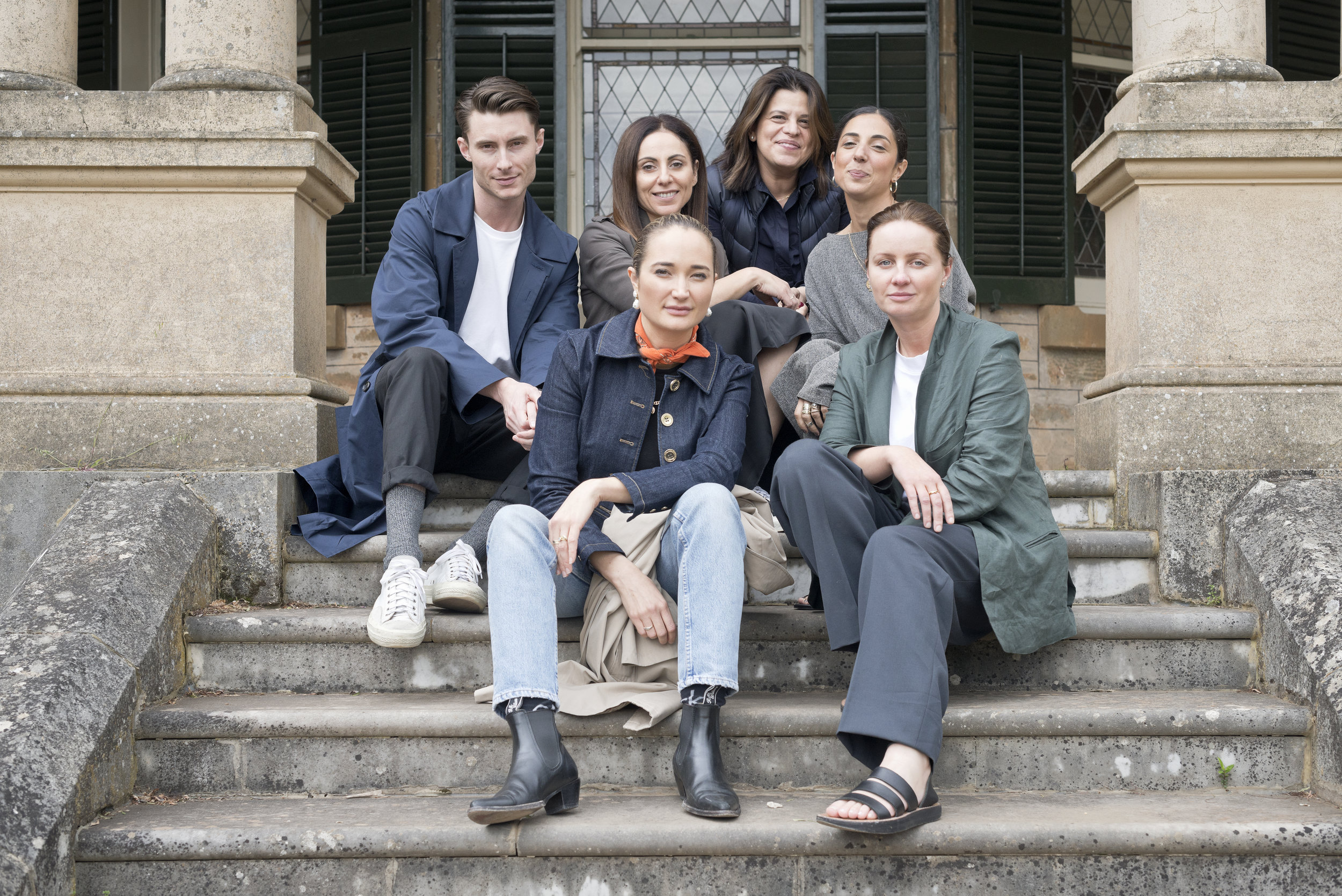 Blair Archibald, Margie Woods, Leila Hibri, Jacinta Demetriou, Marina Afonina and Ainsley Hansen at Anlaby Station | Image by    Andy Ellis