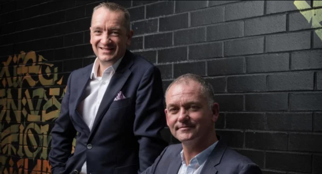 BlockTexx founders Adrian Jones and Graham Ross, via SmartCompany