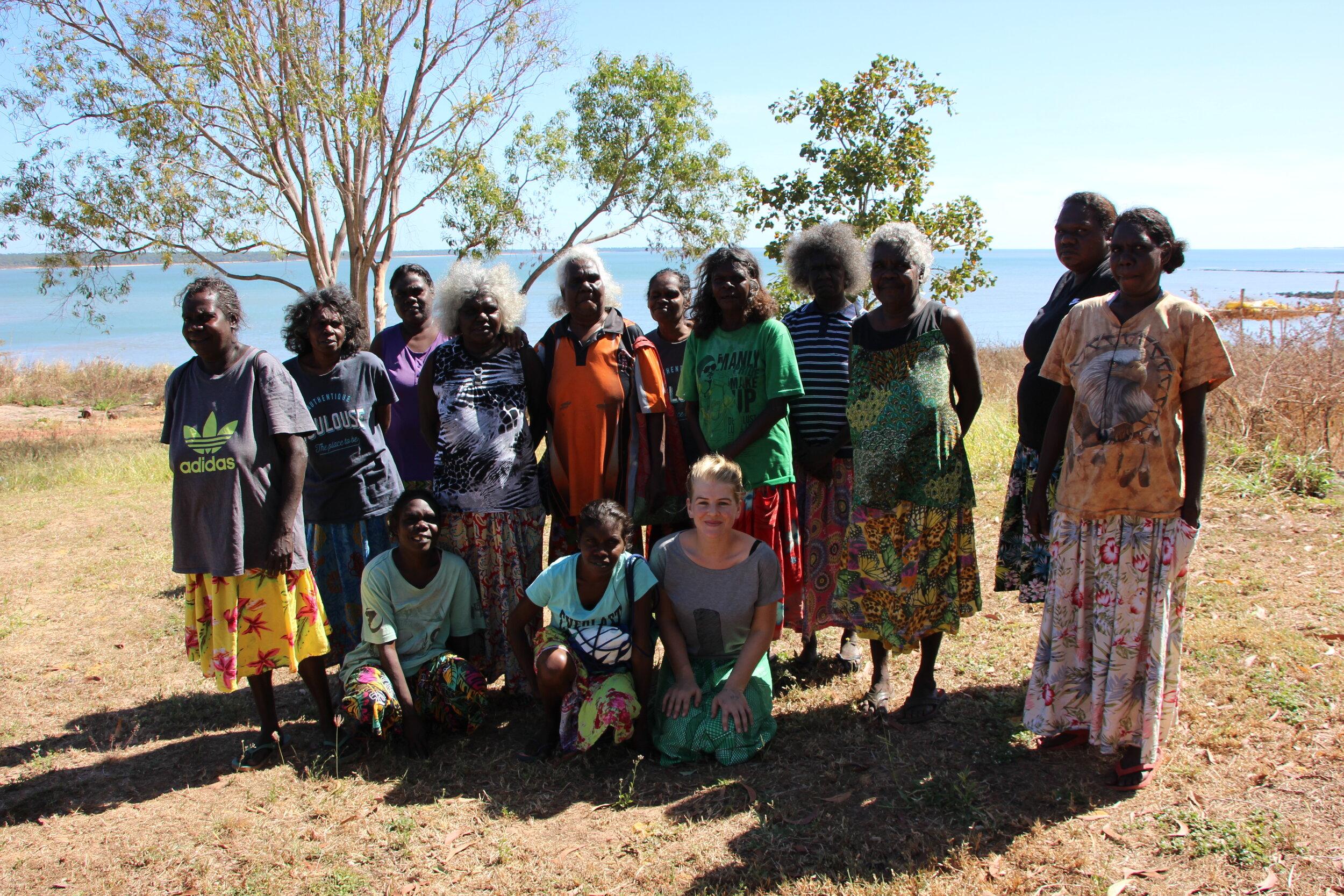 Bábbarra Women's Governance Group meeting at Maningrida barge landing. Image by Michelle Culpitt.