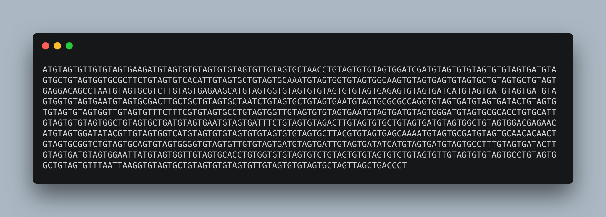 A fictional 1000 nucleic acid long DNA sequence of a strong cancer-fighting cell.