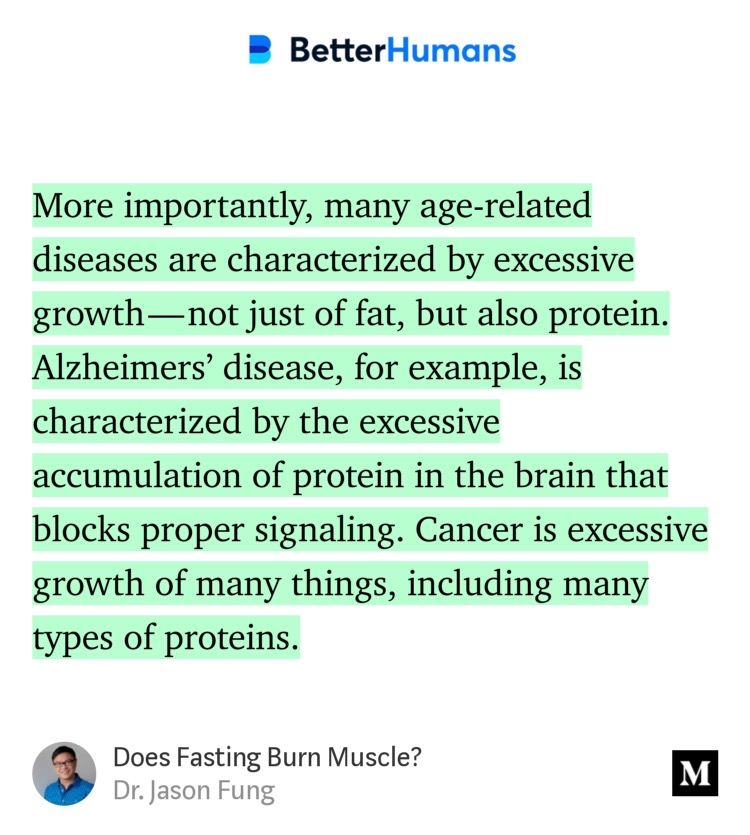 Outtake from  Does Fasting Burn Muscle?  by Dr Jason Fung.