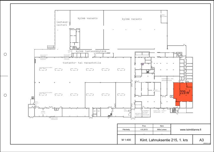 Toimitilanne Suomi, Nurmijärvi - Klaukkala, Lahnuksentie 215. Tuotantotila 229 m².
