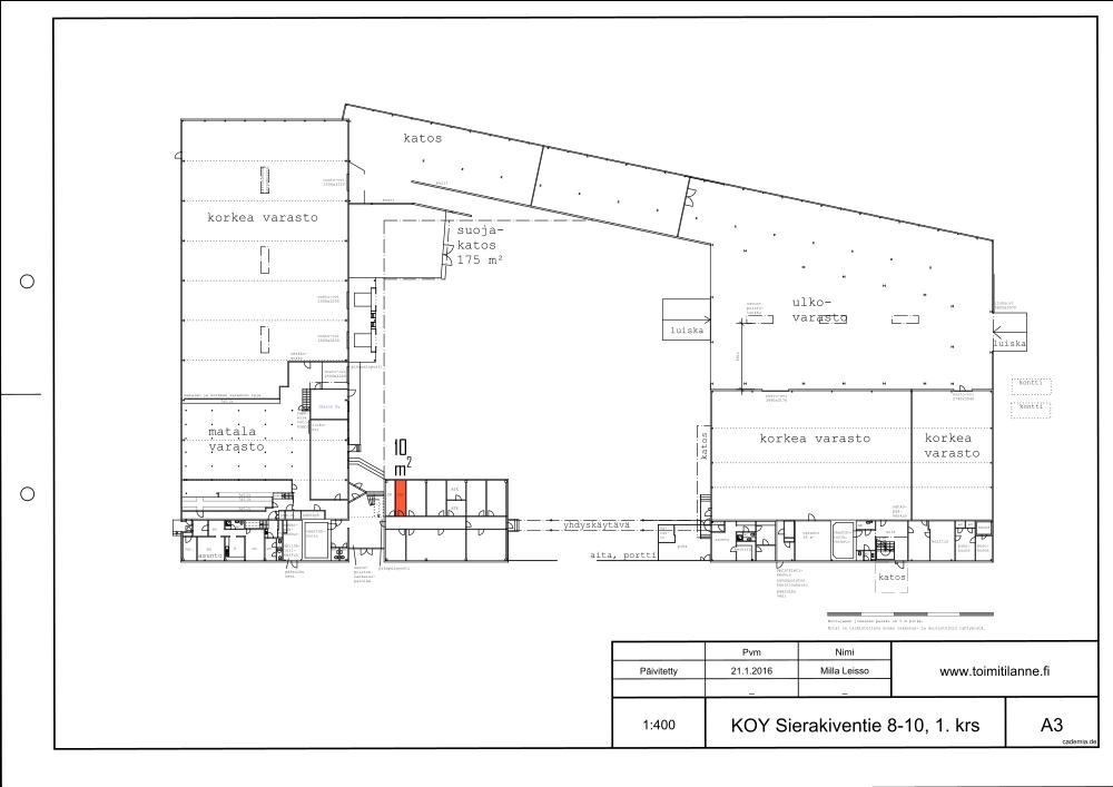 Toimitilanne Suomi, Espoo - Kauklahti, Sierakiventie 8-10, Varastohuone 10 m²