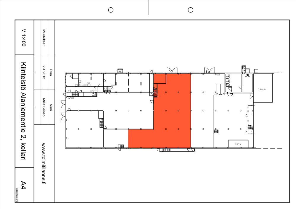 Toimitilanne Suomi, Espoo - Alaniementie, Työ- tai varastotila 525 m²