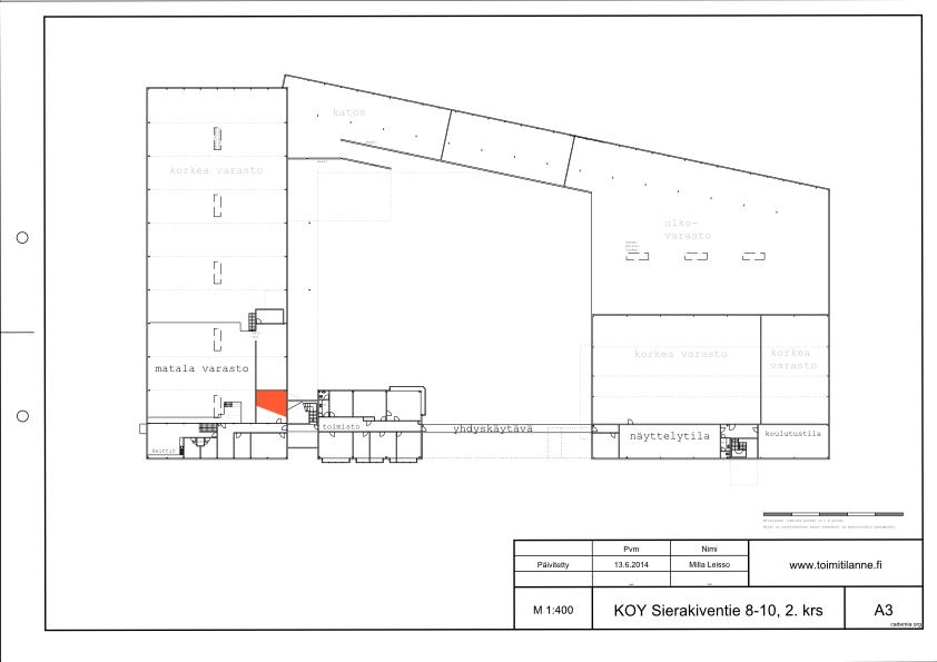 Toimitilanne Suomi, Espoo - Kauklahti, Sierakiventie 8-10, Varastotila 20 m²