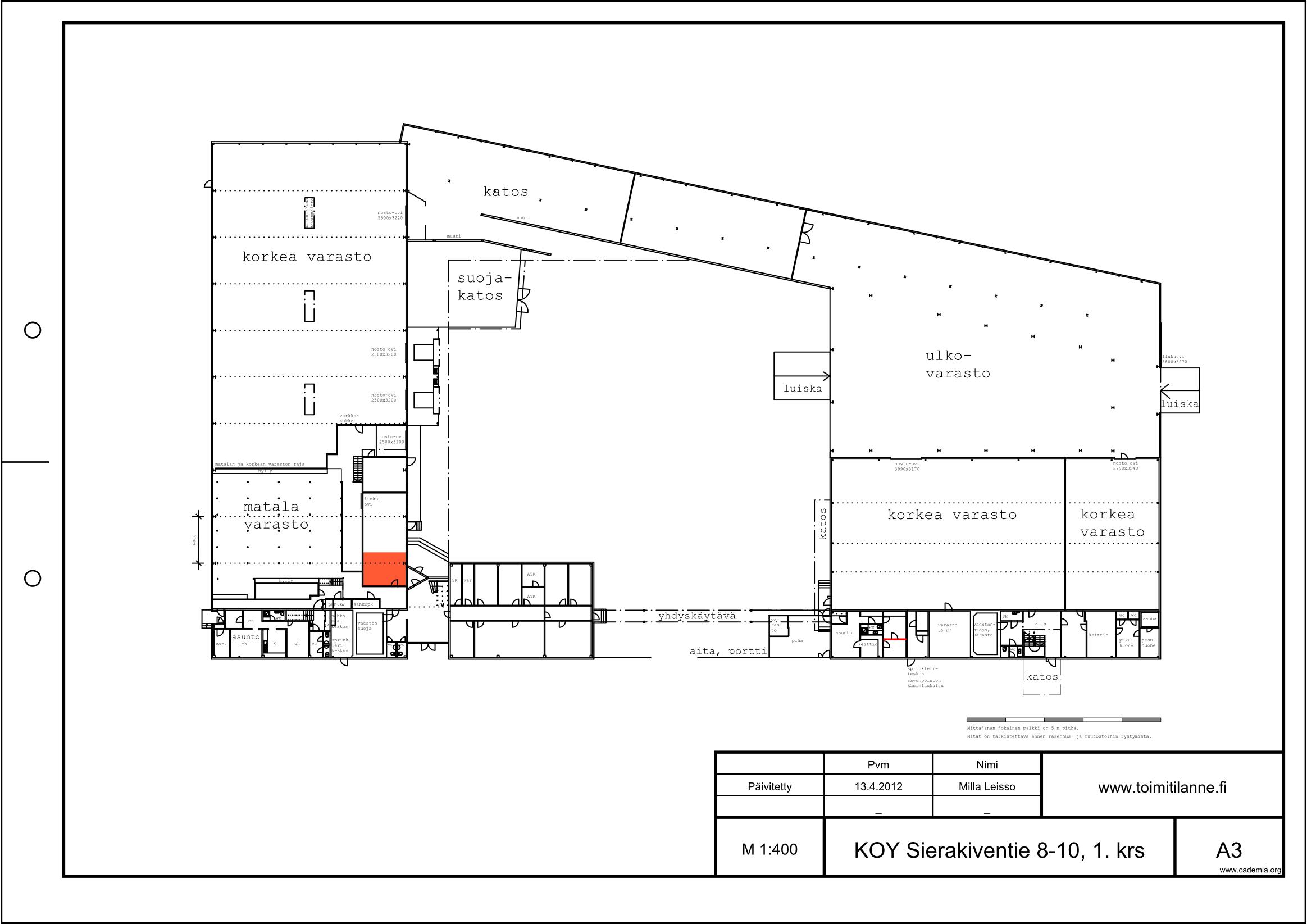 Toimitilanne Suomi, Espoo - Kauklahti, Sierakiventie 8-10, Varastotila 27 m²
