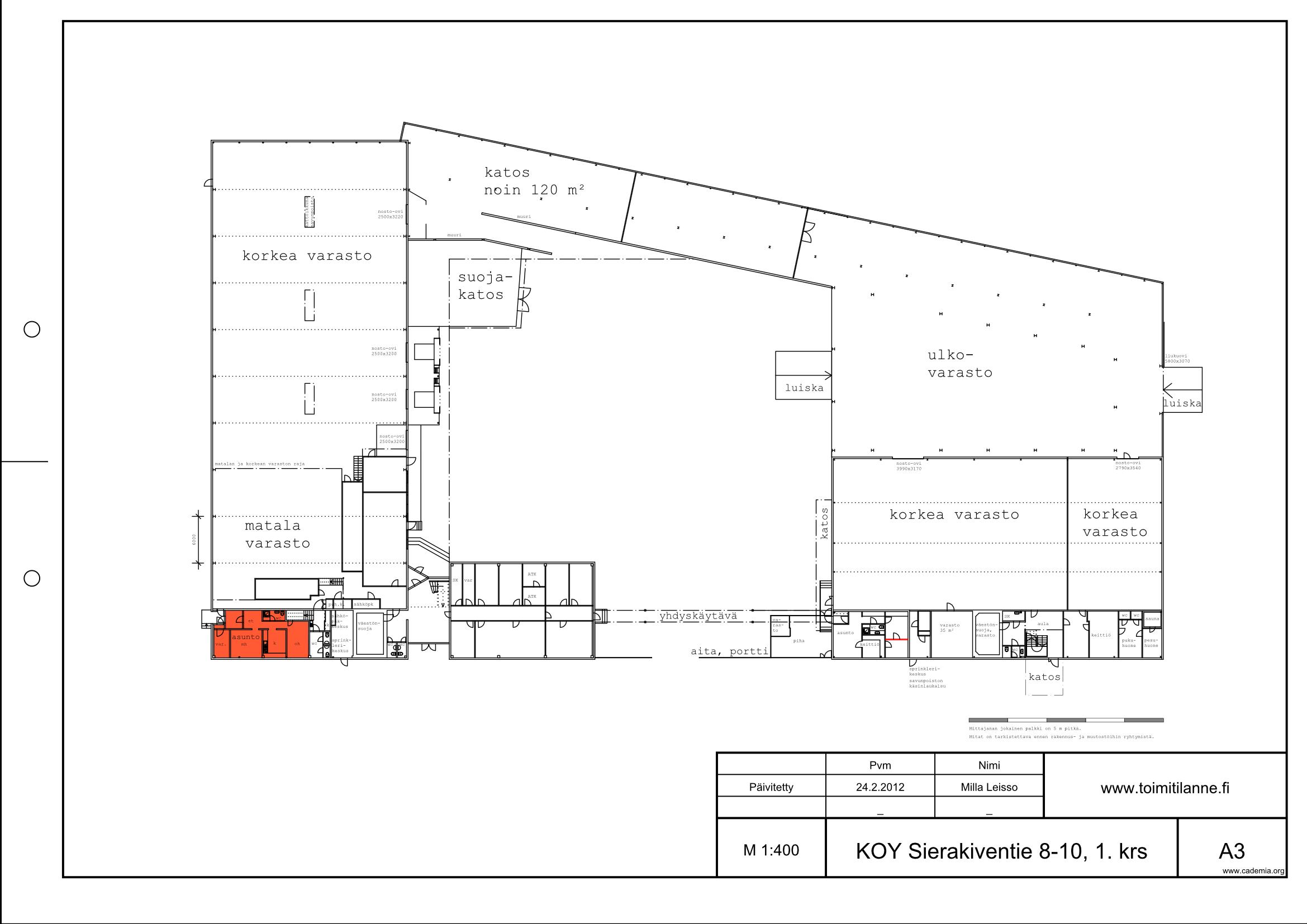Toimitilanne Suomi, Espoo - Kauklahti, Sierakiventie 8-10, Asunto 67 m²