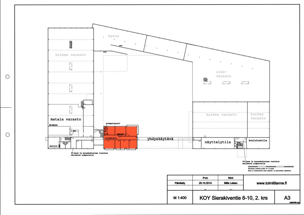 Toimitilanne Suomi, Espoo - Kauklahti, Sierakiventie 8-10, Toimistotila 229 m²