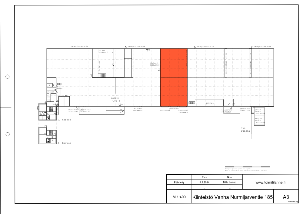 Toimitilanne Suomi, Vantaa - Luhtaanmäki, Luhtaanmäentie 69. Varasto- tai tuotantotila 480 m².
