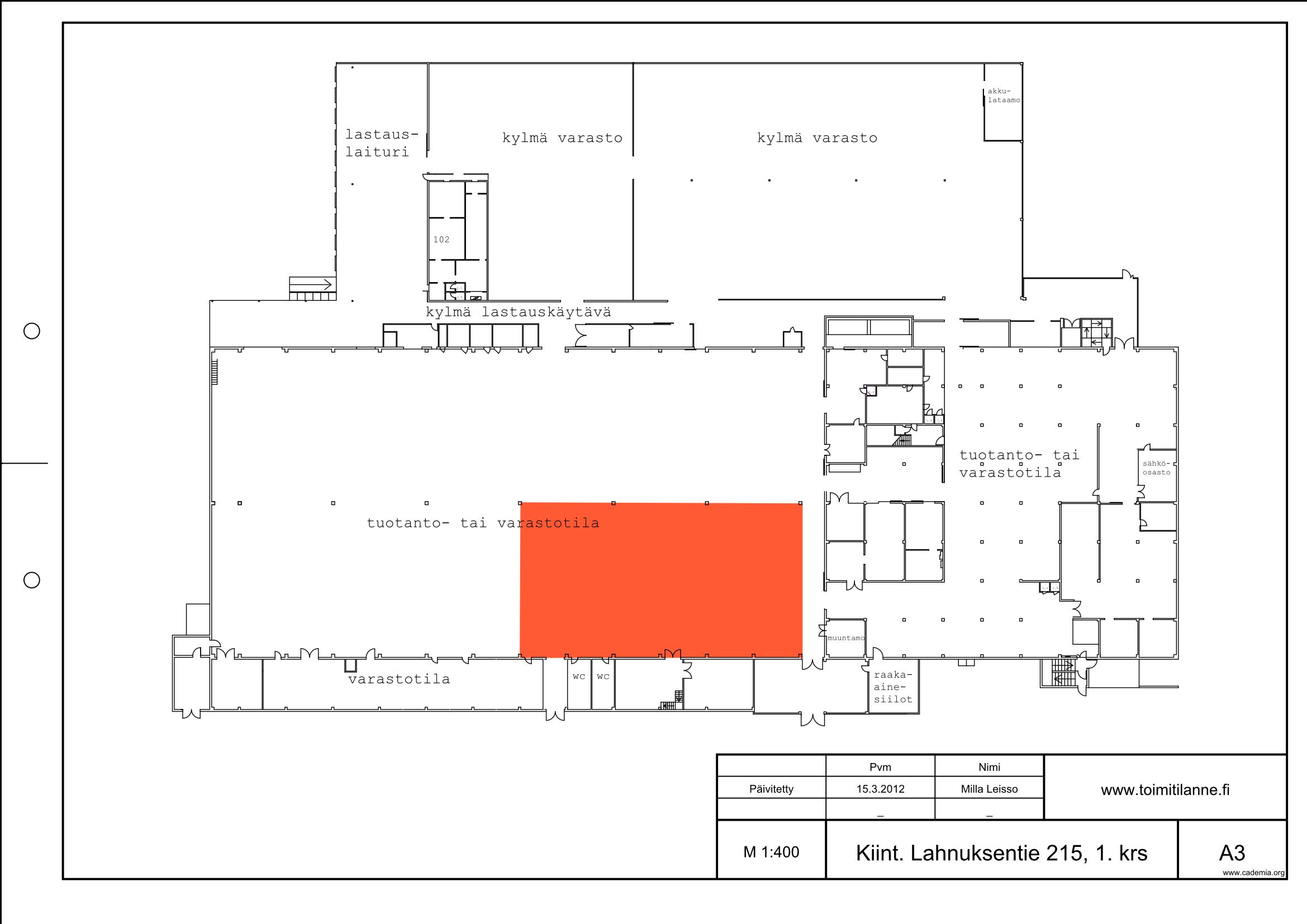Toimitilanne Suomi, Nurmijärvi - Klaukkala, Lahnuksentie 215. Varastotila 734 m².