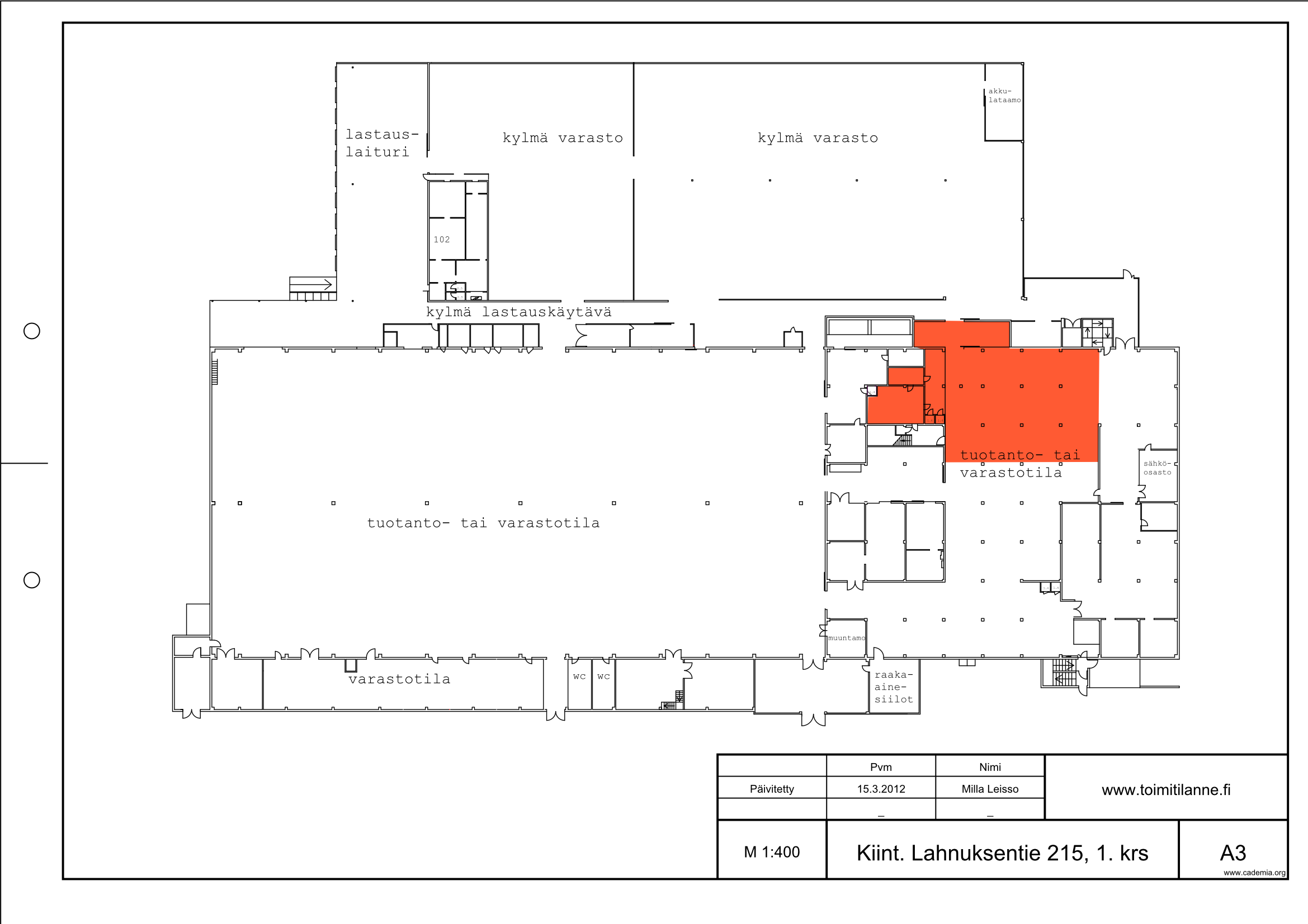 Toimitilanne Suomi, Nurmijärvi - Klaukkala, Lahnuksentie 215. Tuotanto- tai varastotila 360 m².