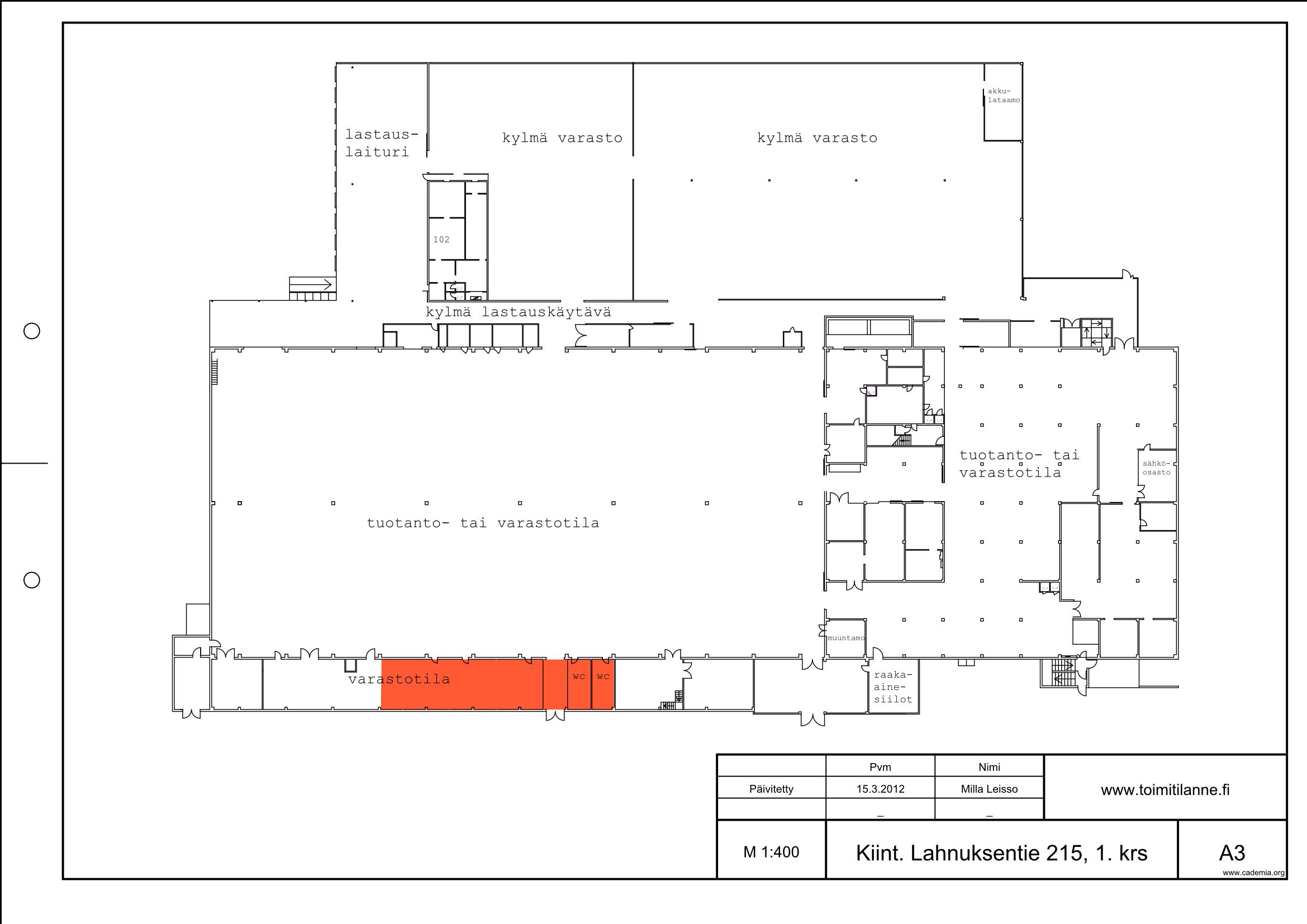 Toimitilanne Suomi, Nurmijärvi - Klaukkala, Lahnuksentie 215. Koulutustila 195 m².