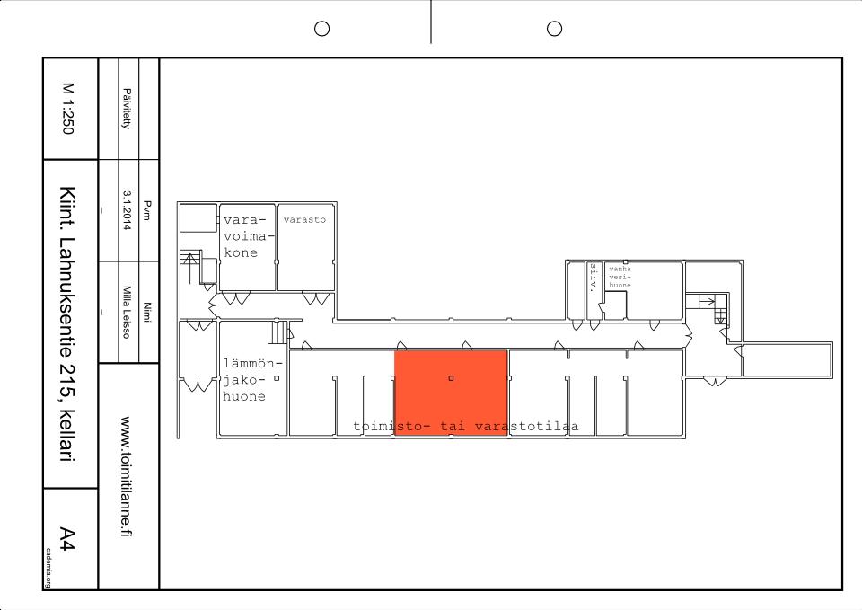 Toimitilanne Suomi, Nurmijärvi - Klaukkala, Lahnuksentie 215. Toimisto- tai varastotila 71 m².