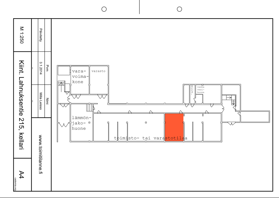 Toimitilanne Suomi, Nurmijärvi - Klaukkala, Lahnuksentie 215. Toimisto- tai varastohuone 37 m².