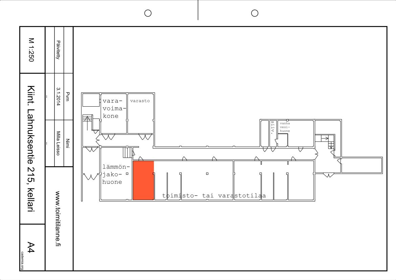Toimitilanne Suomi, Nurmijärvi - Klaukkala, Lahnuksentie 215. Toimisto- tai varastohuone 24 m².