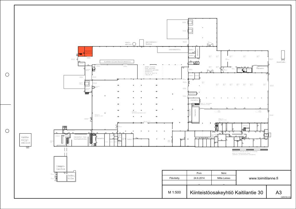 Toimitilanne Suomi, Lahden seutu - Orimattila, Kaitilantie 30. Varasto- tai työtila 70 m².