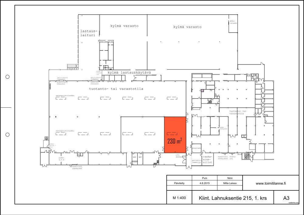 Toimitilanne Suomi, Nurmijärvi - Klaukkala, Lahnuksentie 215. Varastotila 230 m².