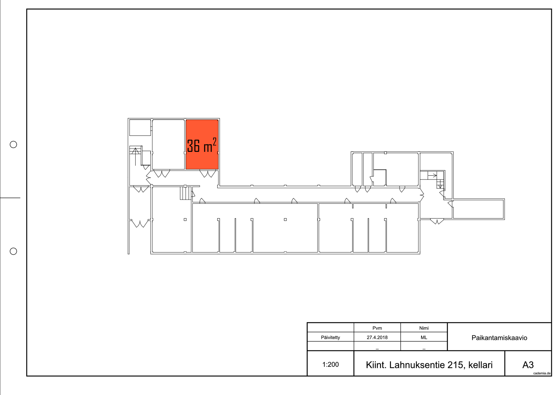 Toimitilanne Suomi, Nurmijärvi - Klaukkala, Lahnuksentie 215. Varastohuone 36 m².