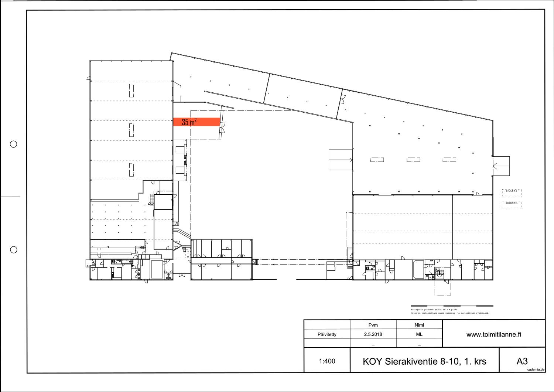 Toimitilanne Suomi, Espoo - Kauklahti, Sierakiventie 8-10, Ulkovarastotila 35 m²