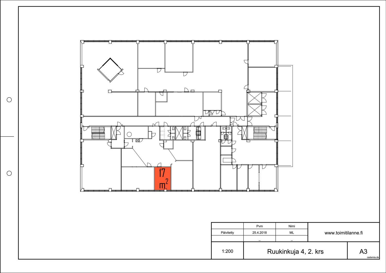 Toimitilanne Suomi, Espoo - Kiviruukki, Ruukinkuja 4, Toimisto- tai varastohuone 17 m².