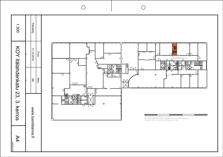Toimitilanne Suomi, Helsinki - Lauttasaari, Itälahdenkatu 23, Toimistohuone 8 m²