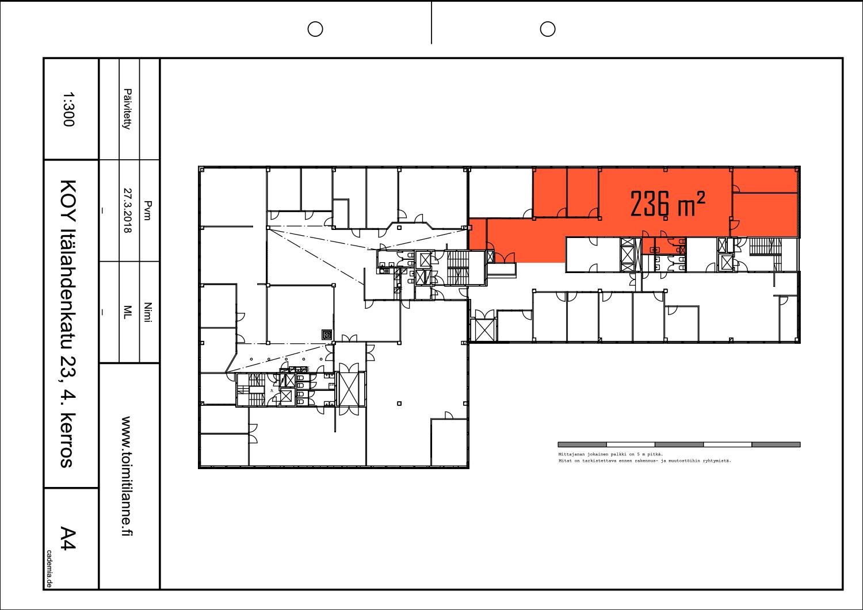 Toimitilanne Suomi, Helsinki - Lauttasaari, Itälahdenkatu 23, Toimisto- tai varastotila 236/266 m²