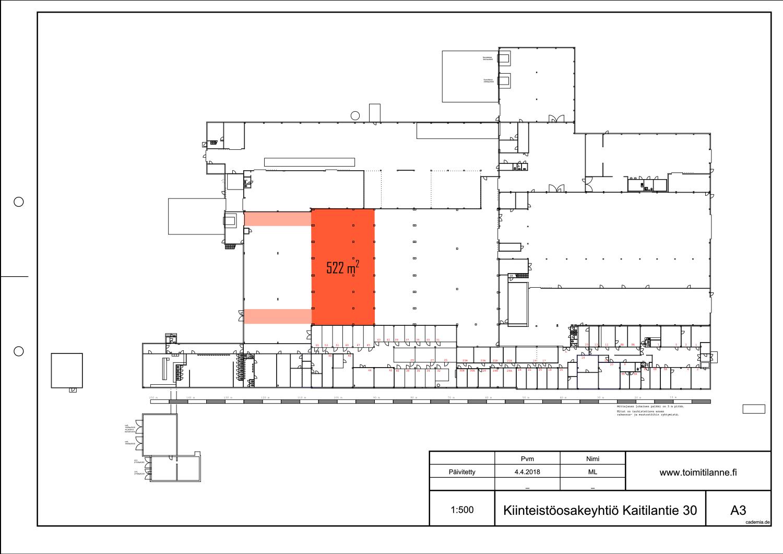 Toimitilanne Suomi, Lahden seutu - Orimattila, Kaitilantie 30. Korkea tuotanto- tai varastotila 522 m².