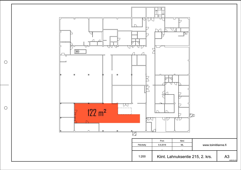 Toimitilanne Suomi, Nurmijärvi - Klaukkala, Lahnuksentie 215. Tuotanto- tai varastotila 122 m².
