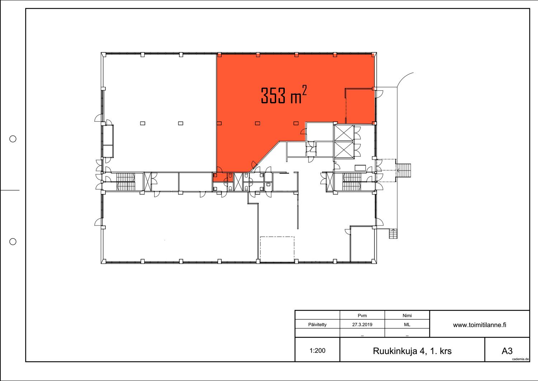 Toimitilanne Suomi, Espoo - Kiviruukki, Ruukinkuja 4, Varasto- tai tuotantotila 353 m²